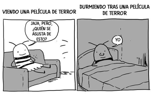 Los efectos de una pelicula de terror