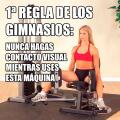 Regla numero para las mujeres en un gimnasio