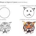 Te enseño a dibujar un tigre en 4 pasos