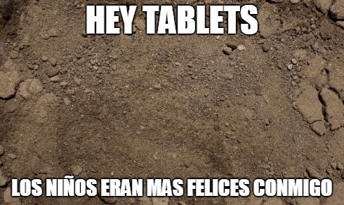Antes de las tablets los niños eran felices con esto