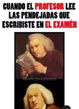 Cuando el profesor lee tu examen