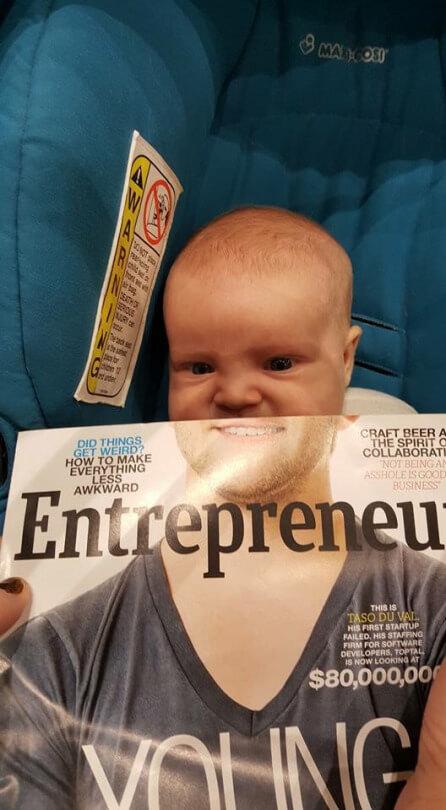 El bebe con barba