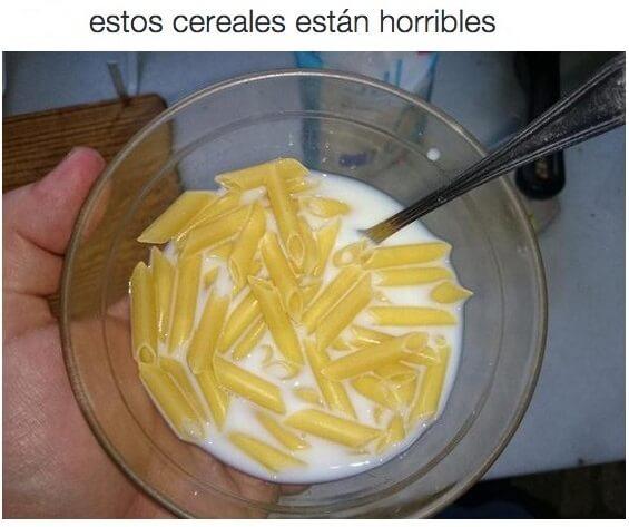 El cereal cuando vives solo