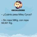El increible bajo peso de Miley Cirus