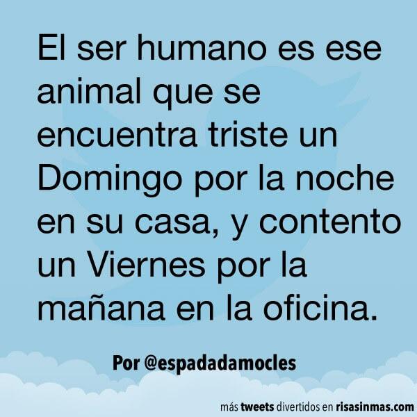 El ser humano es un animal triste