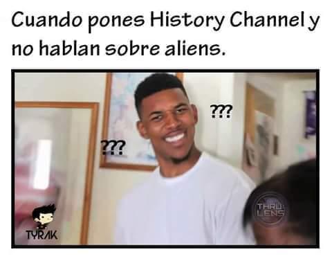 History Channel ya no hablara de Aliens