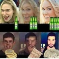 La belleza es relativa al alcohol y dinero