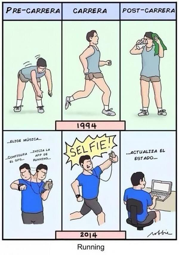 Running antes vs el actual