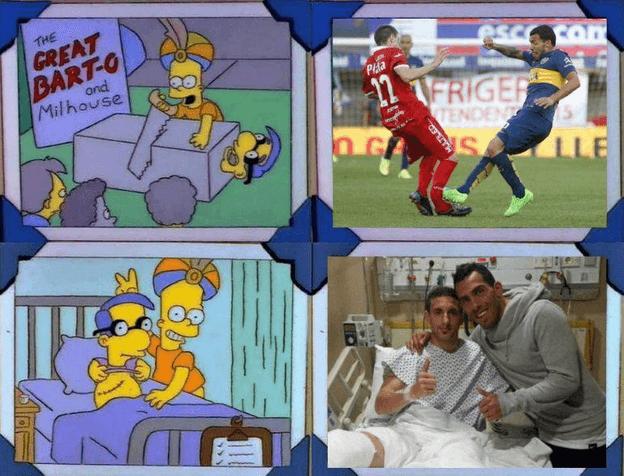 Tevez y su extraña inspiracion en Los Simpsons