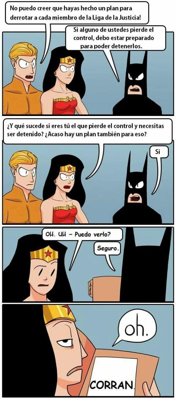 Batman y sus planes