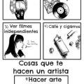 Cosas que no te hacen un artista
