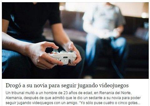 Cuando los videojuegos son mas importante que tu novia