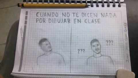 Cuando puedes dibujar en clase