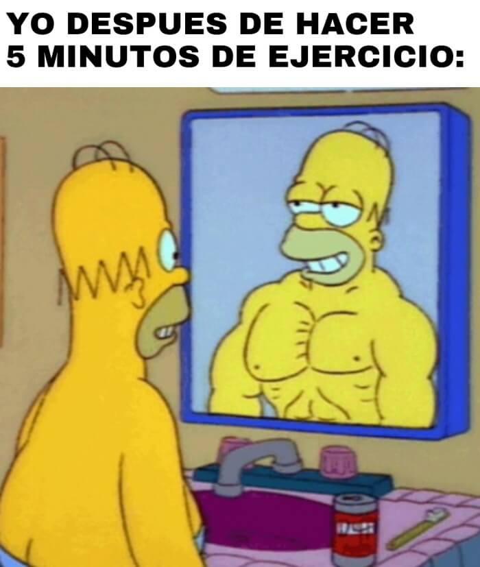 Despues de hacer por 5 minutos ejercicios