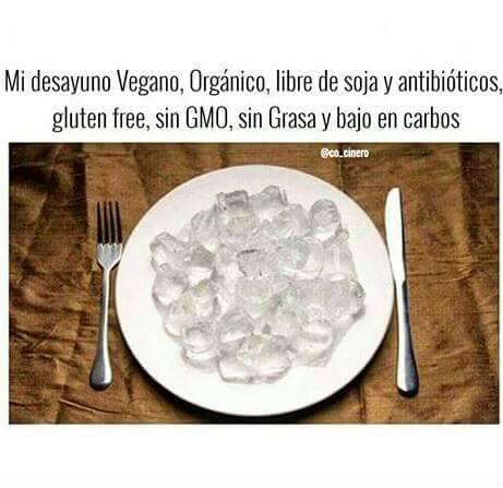 El desayuno vegano organico libre de todo