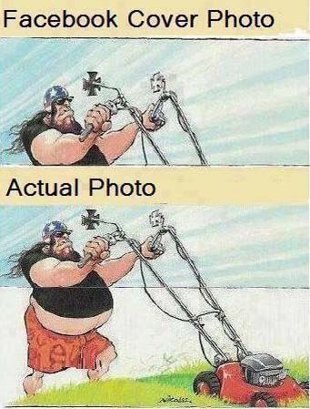 Foto de facebook vs una real