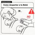 Intrucciones para despertar a un bebe