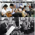 La tecnologia nos hace menos sociables