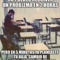 La vida de un estudiante sin futuro