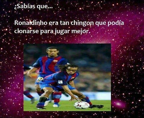 Que tan bueno era Ronaldinho