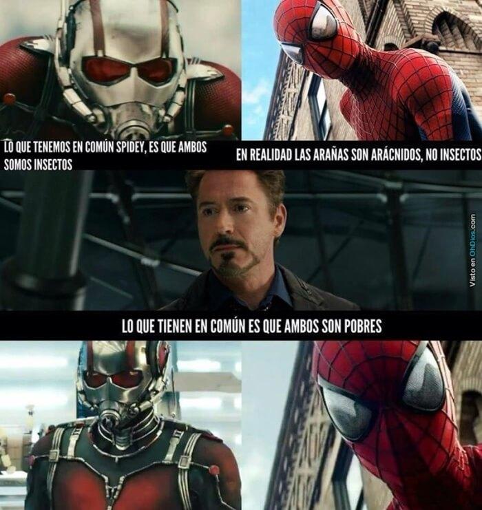 Que tienen en comun ant man y Spiderman