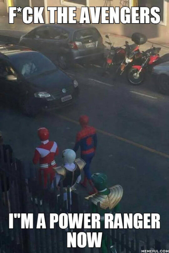 Spiderman se une a los Power Rangers