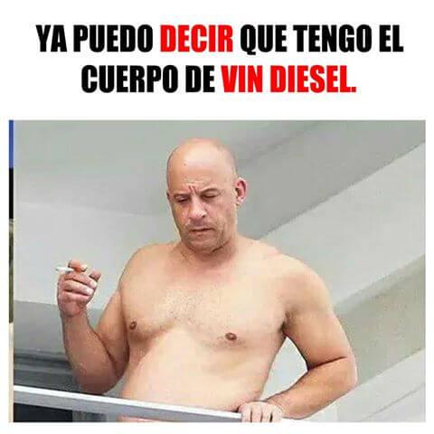 Tengo el mismo cuerpo que Vin Diesel