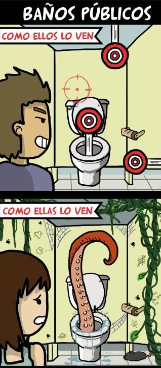 Imagenes De Baño Solo Para Mujeres:Baños públicos de hombres vs los de mujeres – QueComicocom