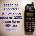 Encontre mi Nokia del 2003 y aun funciona