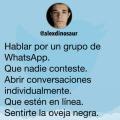 Hablar por un grupo de WhatsApp puede ser malvado
