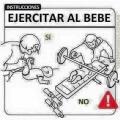 Instrucciones para ejercitar a un bebe