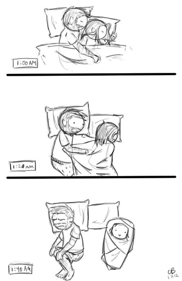 Que bello es dormir en pareja