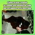 Que hacer si rompes una botella de vino