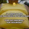 Ser gordo es mas seguro