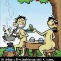 Si adan y Eva hubiesen sido chinos