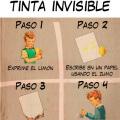 Te enseño a crear tu tinta invisible