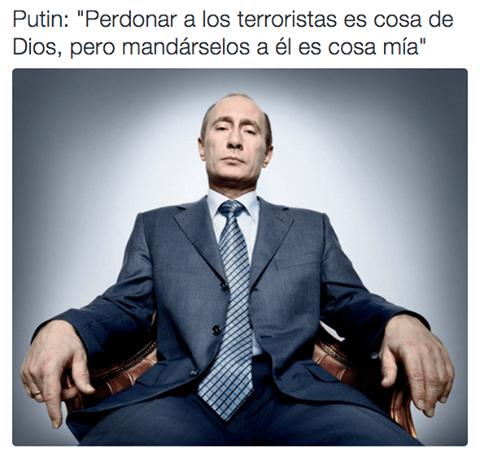 Vladimir putin es un tipo de temer