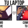 Como tu gato ve tu laptop