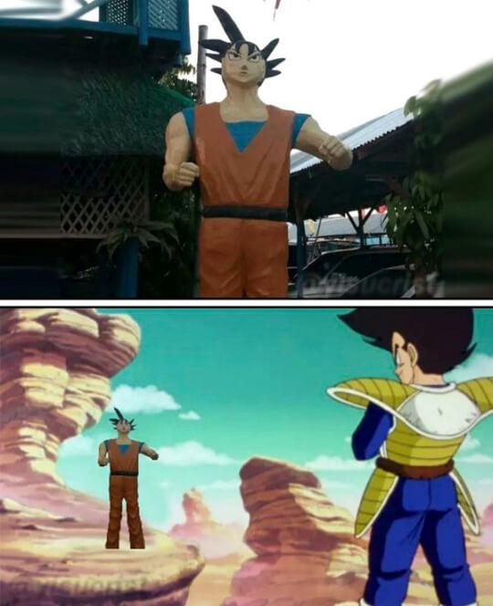 Goku en la vida real