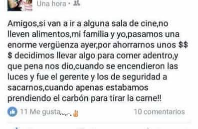 No pases verguenza cuando vayas al cine