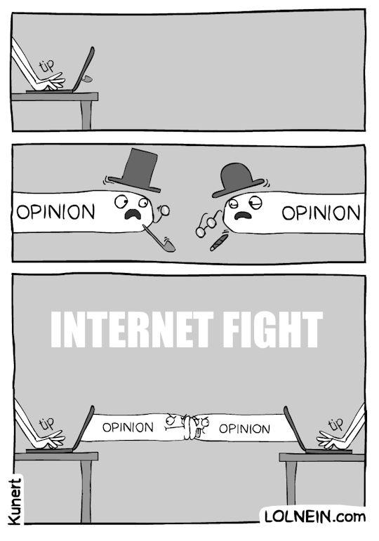 Peleas de Internet