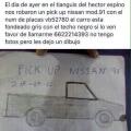 Si alguien ha visto esta camioneta por favor llame