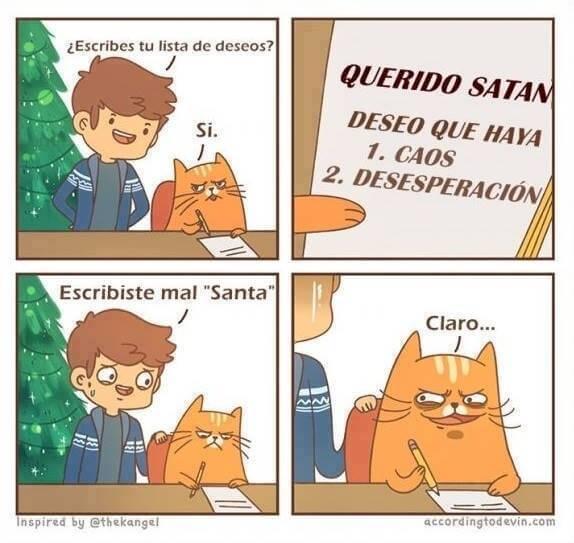 Si tu gato escribiera una carta para santa