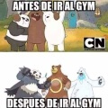 Antes y despues de ir al gym