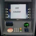 Cuando el dispensador de dinero ya no tiene dinero
