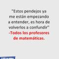 El pensamiento oscuro de los profesores de mateticas