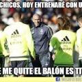 La increible manera de entrenar de Zidane