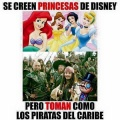 Se creen princesas pero