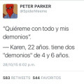 Uno debe amar a las personas incluso con sus demonios