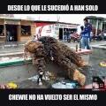 Chewie no ha vuelto a ser el mismo